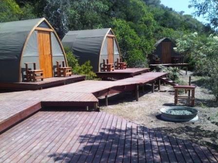 river tents back stoep and braai